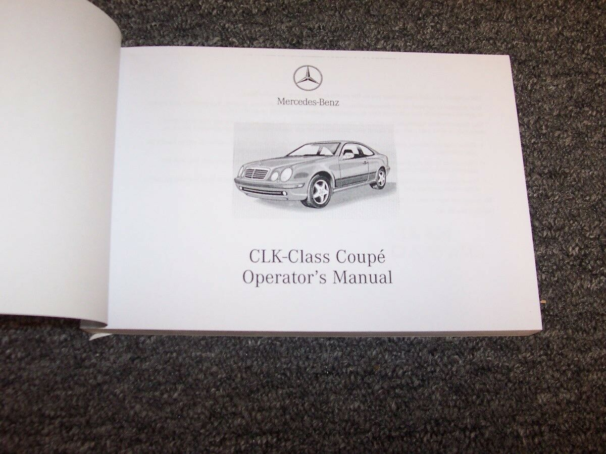 2002 mercedes benz clk430 owners manual set clk 430 clk 55 amg ebay rh ebay  com mercedes clk 430 repair manual 2001 clk 430 owners manual
