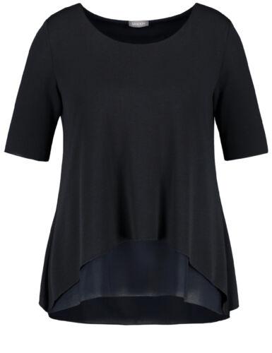 Samoon Ausgestelltes Double-Layer-Shirt by Gerry Weber Neu Navy Shirt Damen Gr.