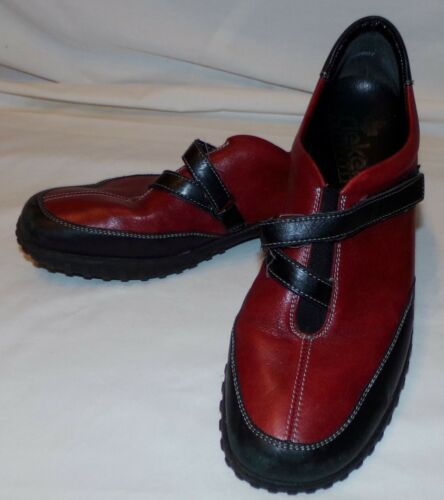 c93de789 Antiestrés 5 Rojos Sin Mujer Rieker 8 Cordones Negros Zapatos 42 2 8 1  qFxgdnd