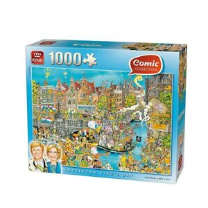 1000 Pièce King Comic Collection King's Day Puzzle-Amsterdam rois Jigsaw NEUF 							 							</span>