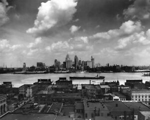 1929-DETROIT-MICHIGAN-SKYLINE-Glossy-8x10-Photo-Print-Rowland-039-s-Skyline-Poster