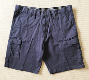 Workzone-Mens-Blue-Chino-Shorts-Size-L-100-Cotton-with-Pockets-Work-Tradie