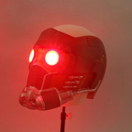 Star Lord LED Mask Cosplay Infinity War Quill LED Latex Helmet Superhero Mask