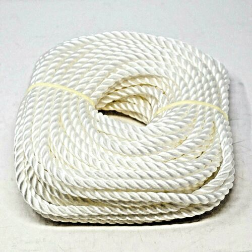 Everbilt 3//8 in x 100 ft White Polypropylene Twisted Rope Up To 244 lbs.
