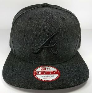 timeless design 15588 58bfd Image is loading Atlanta-Braves-New-Era-9Fifty-Heather-Basic-Gray-
