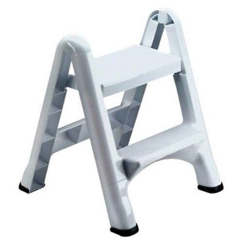 Rubbermaid FG420903WHT Folding 2-Step Step Stool