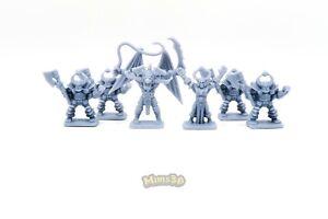 Minis3D-Rep-Heroquest-Original-Chaos-Gargoyle-Chaos-Warlock-Chaos-Warrior