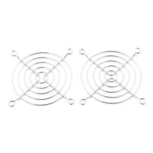 2Pcs-8cm-Computer-PC-Case-AC-DC-Fan-Grill-Metal-Wire-Finger-Guard-Protector-G1JH