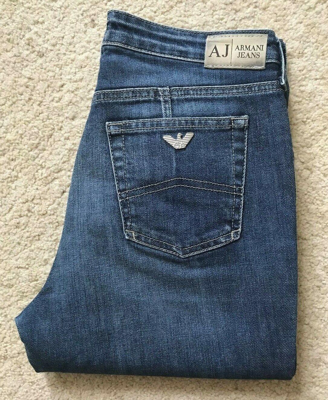Armani 007 Series indigo bluee bootcut vintage denim jeans W 30 L 34