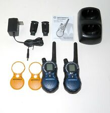 2x Motorola Talkabout T8500 Walkie Talkie Two Way Radios With Dual Charger Extras