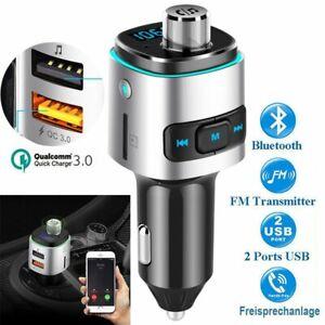 Coche-FM-Transmisor-LED-Manos-Libre-USB-TF-Inalambrico-bluetooth-MP3-Reproductor