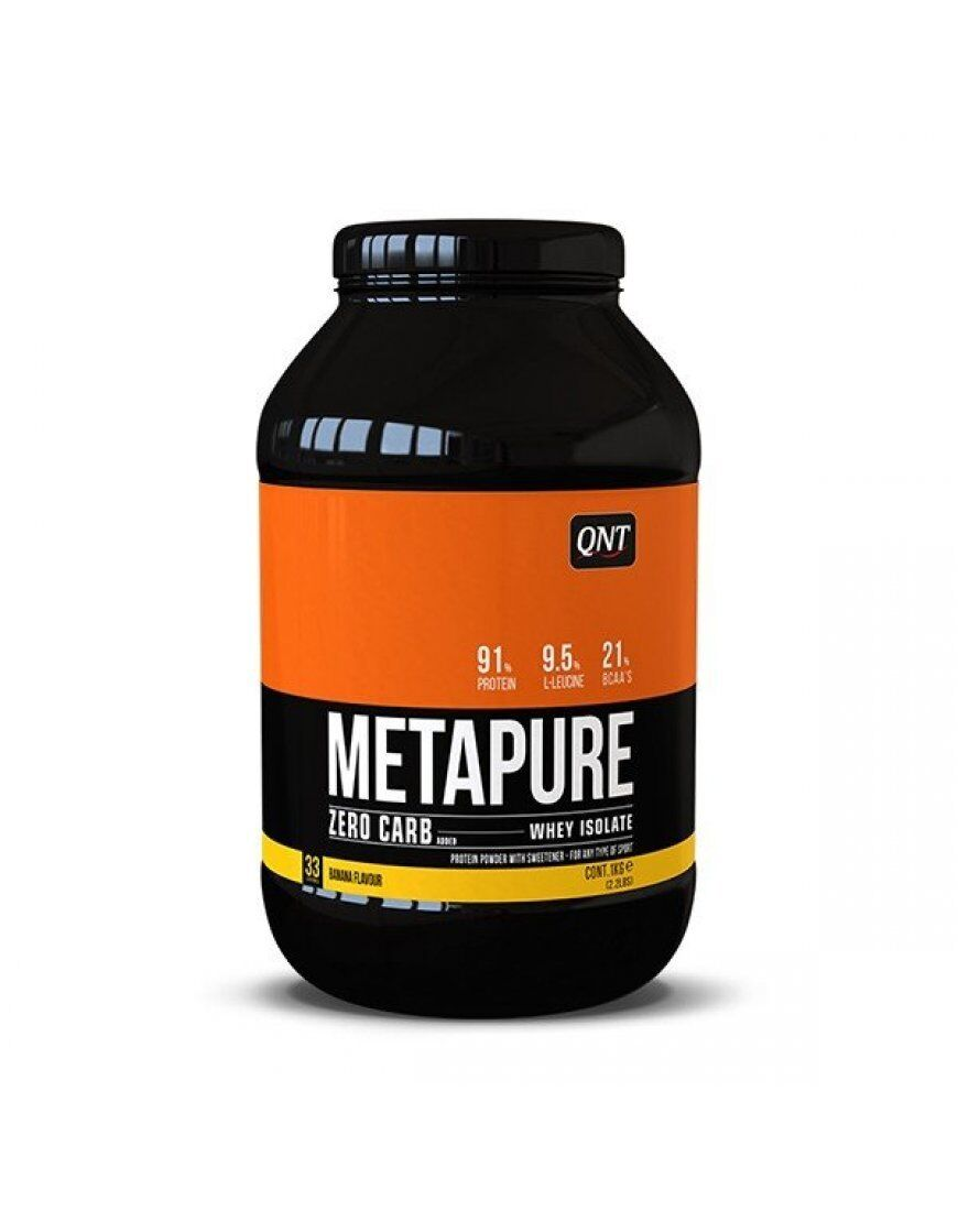 QNT Zero Carb Metapure Fat Free Free Fat Whey Protein Isolate Muscle Powder (Banana) 2kg 14d132