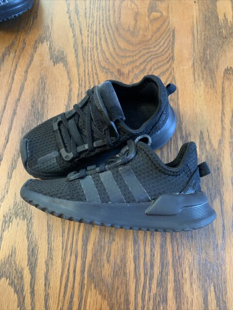Adidas Toddler 7K Black Path Run I Athletic Shoes