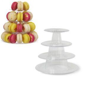 3 Schichten Macaron Display Stand Acryl Hochzeit Dessert Display Kuchen Rack DE