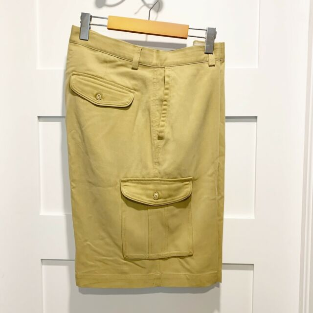 Tommy Bahama Men's Size 34 100% Silk Flat Front Cargo Dress Shorts
