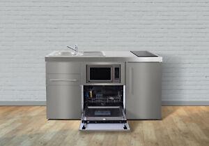 Miniküche Mit Backofen Ohne Kühlschrank : Edelstahl miniküche mpbgsm geschirrspüler mikrowelle kühlschrank