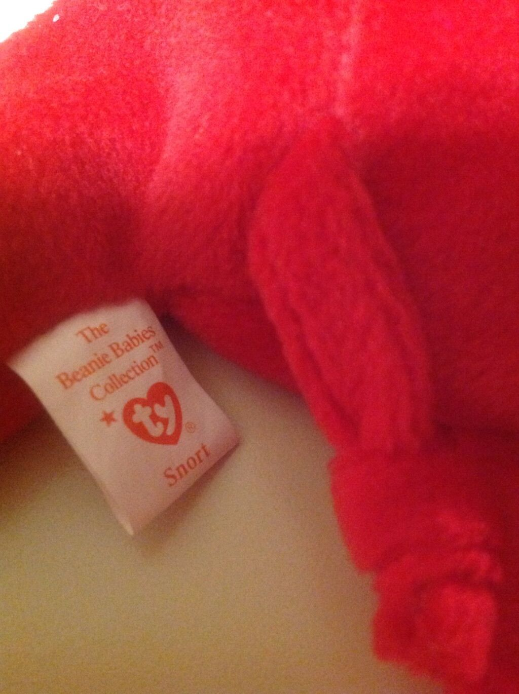 Ty beanie baby, baby, baby, RARE ,  Snort  the bull, retired, very rare, excellent condition c569bb