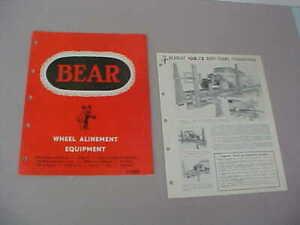VINTAGE 1950's BEAR ALINEMENT EQUIPMENT CATALOG + EXTRA BROCHURE