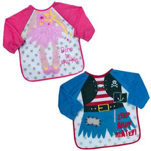 Babies Bibs Boys Girls Long Sleeved Terry Bib Coverall Apron ... 51c414273