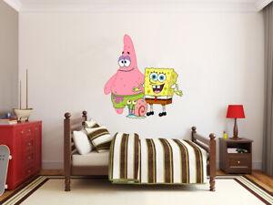 NUOVO-Sponge-Bob-e-gli-amici-X-Large-Gigante-Adesivo-Parete-in-Vinile-Decalcomanie-Bambini-62