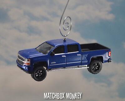 Blue Chevy Silverado >> Blue Lifted 2018 Chevy Silverado High Country 1500 Pickup Christmas Ornament Ebay