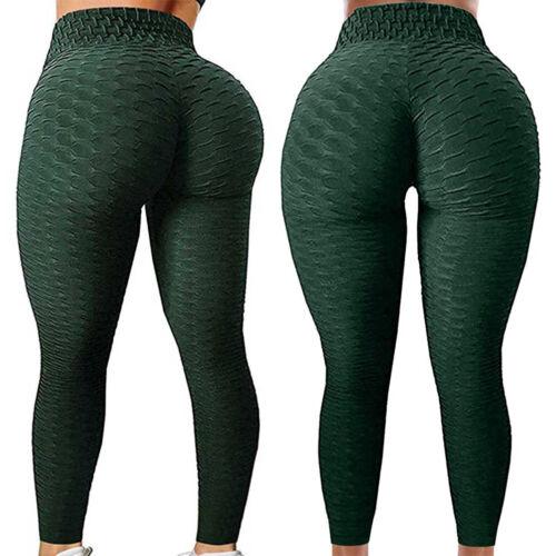 Women Anti Cellulite High Waist Yoga Pants Gym Leggings Scrunch Fitness Booty p1