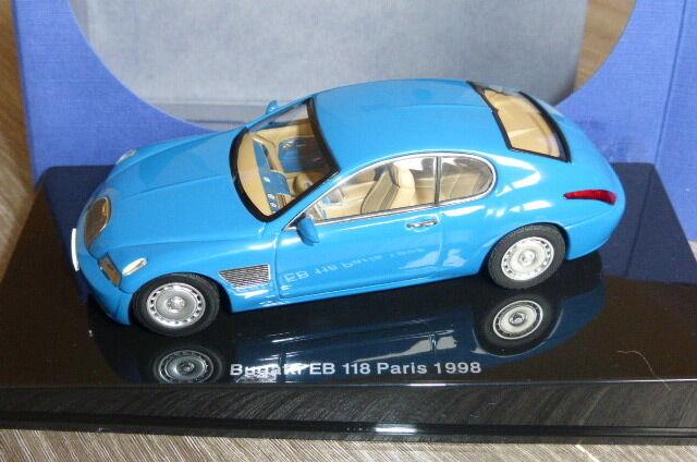 BUGATTI EB 118 PARIS MOTORSHOW 1998 FRENCH RACING Blau AUTOART 50921 1 43 Blau
