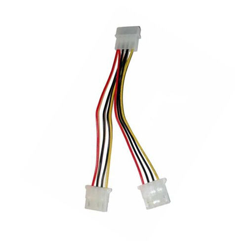 "8/"" Inch 20 cm 4-pin Molex Male to Dual Female Power Splitter Y Cable"