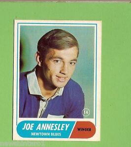 #D201. 1969 SCANLENS RUGBY LEAGUE CARD #14 JOE ANNESLEY, NEWTOWN