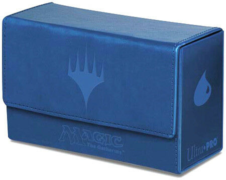 Mana Symbol Dual Flip Deck Box Blue Ultra Pro GAMING SUPPLY BRAND NEW ABUGames
