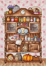 "Counted Cross Stitch Kit PANNA - ""Buffet with owls"""