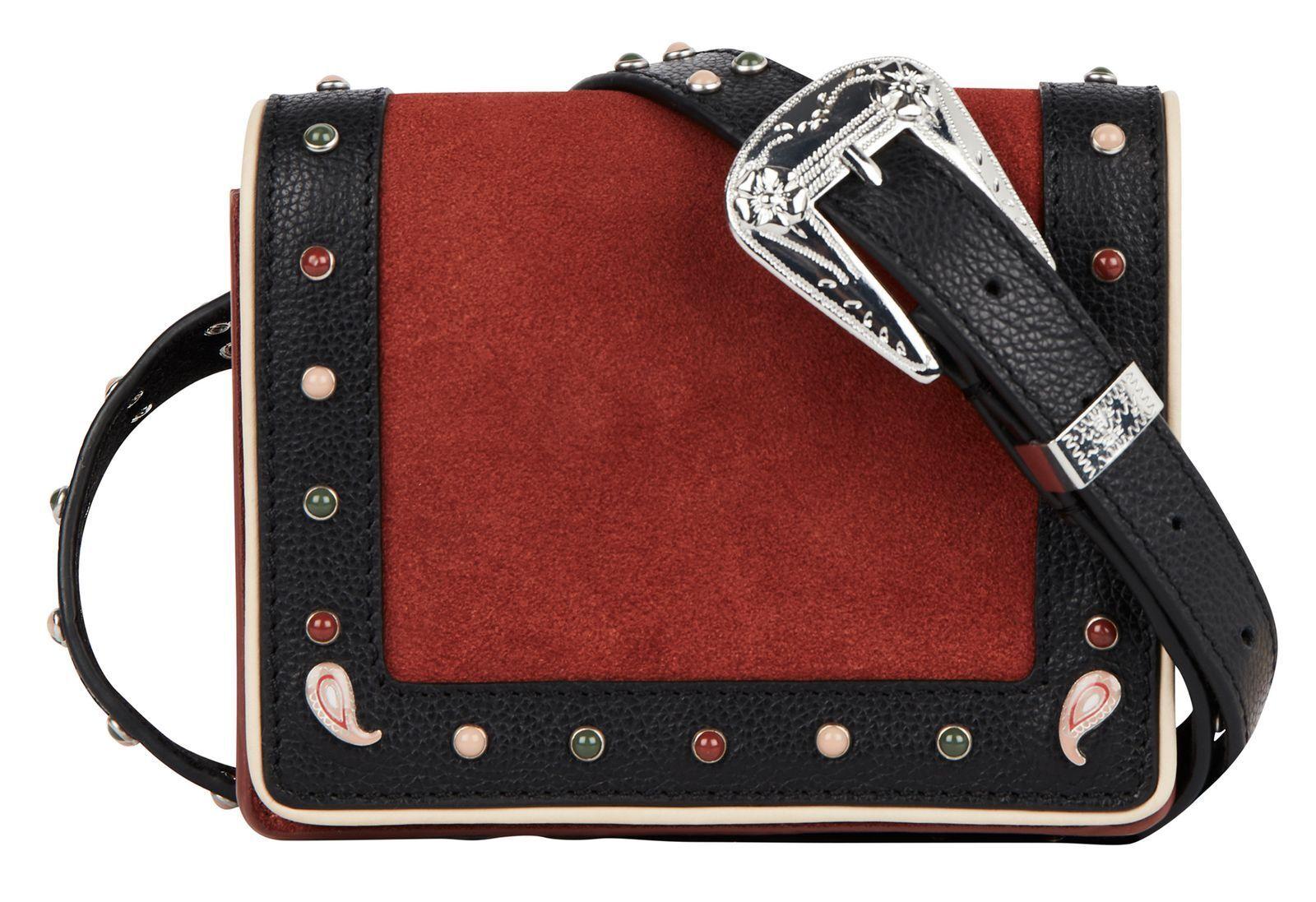 SCOTCH & SODA Western Belt Bag Gürteltasche Tasche Combo A Rot Schwarz Neu | Elegant Und Würdevoll  | Mittlere Kosten  | Luxus