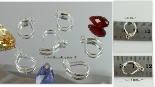 Silver Earrings findings parts Pure plated 4 microns Leverback Jewelry parts lot