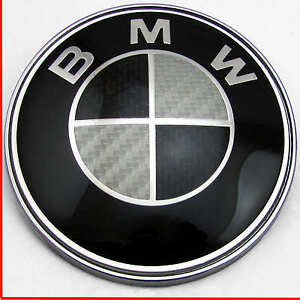 Bmw 1 3 5 7 Z3 Z4 X3 X5 Series Bonnet Badge Black Carbon