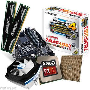 Computer-PC-Aufruestkit-AMD-Quad-Core-X4-FX-4300-4x3-8GHz-8GB-DDR3-Gigabyte-78L