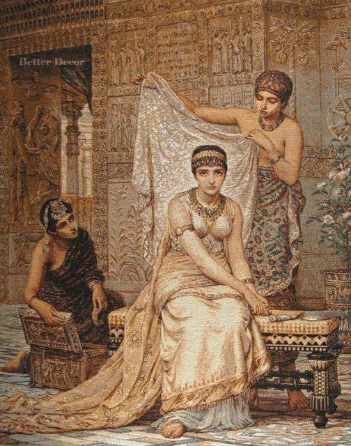 WALL JACQ. WOVEN TAPESTRY Queen Esther EURO ART DECOR - ANCIENT / MEDIEVAL SCENE