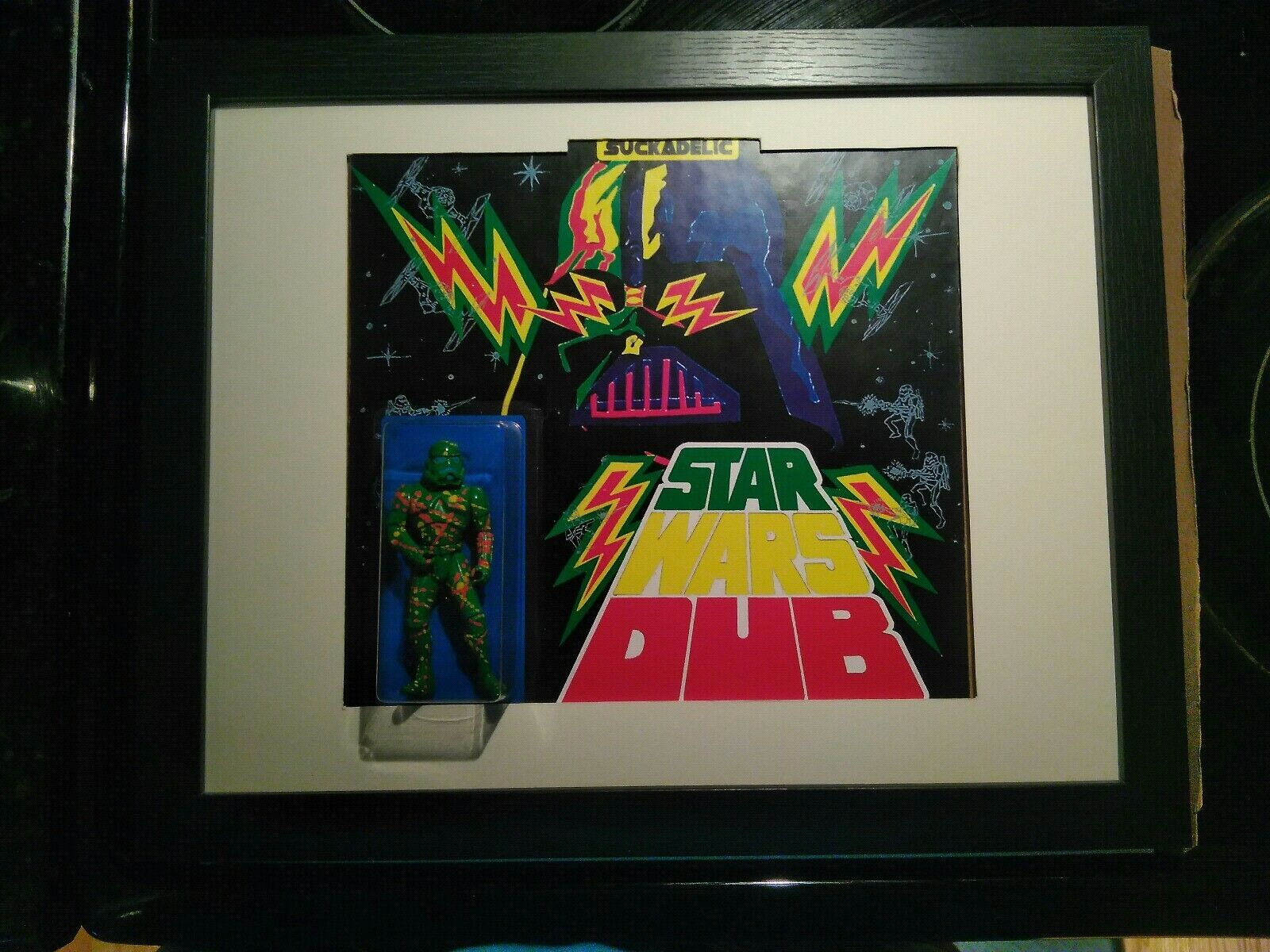SUCKLORD STAR WARS DUB SUCKADELIC STORMTROOPER StiefelLEG ONE OFF SIGNED FRAMED