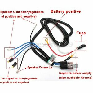 12v electric horn relay wiring harness kit for grille mount blast rh ebay com Ford Horn Relay Wiring Horn Relay Circuit