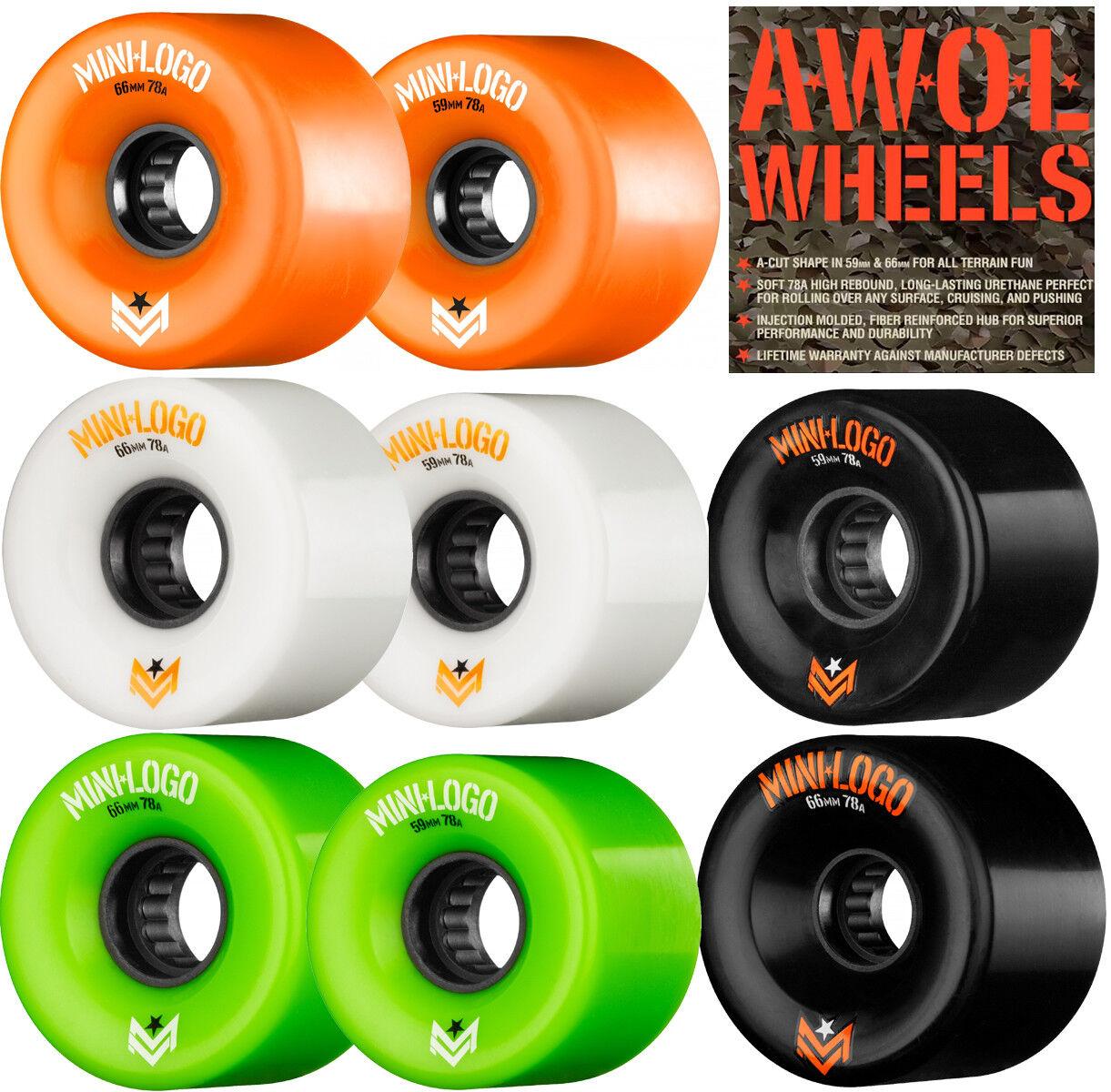 Powell / Mini Logo a. W. O. L.78a Skateboard 66mm Räder 59 Or 66mm Skateboard Alle Terrains d64c64