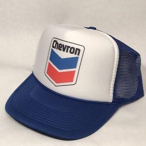 5d1b37eaf8f Vintage Style Chevron Truck Stop Store Gas Station Oil Trucker Hat ...