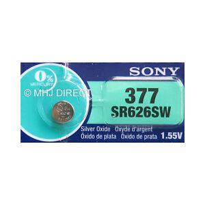 Genuine-SONY-377-SR626SW-SR66-AG4-Silver-Oxide-Watch-Battery-Use-By-Date-2021