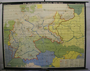 Deutsches Reich Karte.Details Zu Schulwandkarte Wandkarte Karte Deutsches Reich Weimarer Republik 18 33 240x192