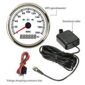 85mm-Waterproof-GPS-Speedometer-Gauge-0-200MPH-for-Car-Truck-Boat-Motorcycle-ATV