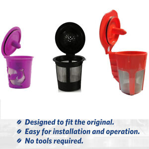 Refillable Reusable K-Cup K Carafe Coffee Filter Pod for Keurig 2.0 1.0 Coffees