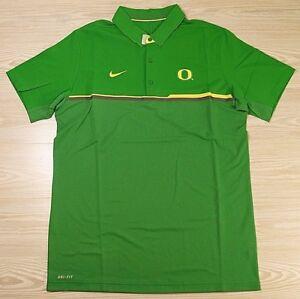 2004ccff99ca Nike Elite Oregon Ducks Dri-Fit Green Yellow Coaches Polo Shirt ...