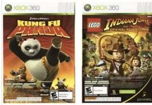 Xbox 360 Kids Game Discs Only: Lego Indiana Jones 1 & Kung Fu Panda 2