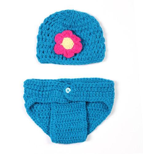 Newborn Baby Girls Boys Crochet Knit Costume Photo Photography Prop Outfits USA