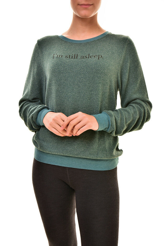Wildfox Women's I'm Still Asleep WVV61341N Sweatshirt Saphire XS RRP  BCF89