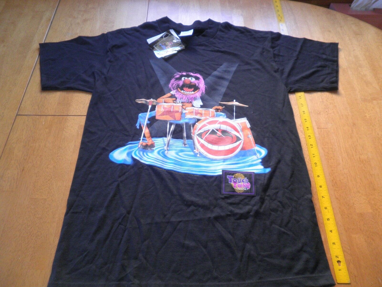 The Muppets 1995 Touch Tone interactive VINTAGE Animal drums t-shirt L NWT