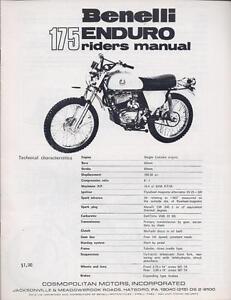 1960-039-s-Benelli-65cc-amp-175cc-Enduro-5-factory-parts-service-amp-owners-manuals